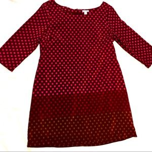 Old Navy Women's Polka Dot Smock Dress 3/4 Sleeves